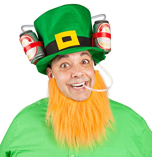 [BigMouth Inc Lucky Leprechaun Drinking Hat] (Drinking Hats With Straws)