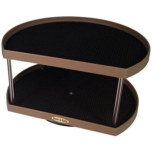 Stow n Spin Kitchen Organizer Turntable Champagne