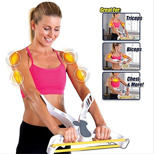 letton Arm Workout Machine Upper Body Resistance Exercise with 3 System Resistance Training Bands for Women Tones Strengthens Arms Biceps Shoulders Chest by letton