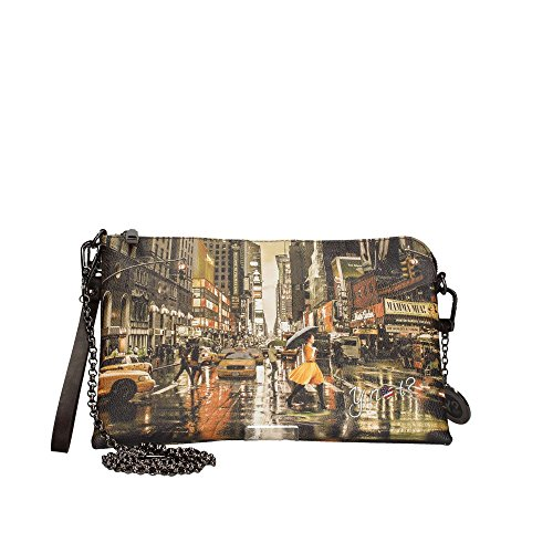 bag K clutch R NOT and woman with strap EAST shoulder 303 cuff Yellow Y EqzaR