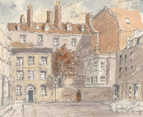 John A. Case - Contemporary Watercolour, Annotated Street Scene ()