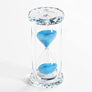 Lonovel 60 Minutes Hourglass Timer,Crystal Sand Timer Diamond Carving Surface,Good for Kitchen Office Desk Coffee Table Book Shelf Cabinet Decor Christmas Birthday Present Gift Box Package,(Blue)