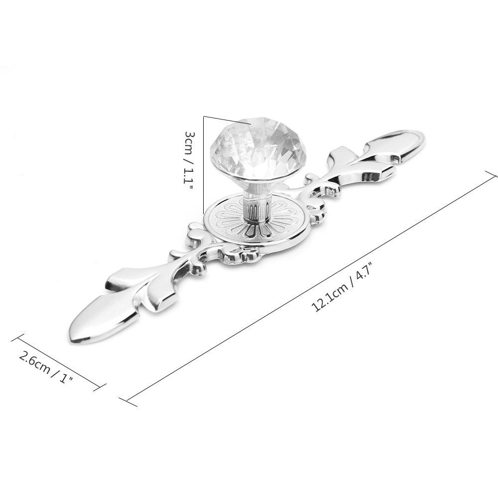 caj/ón pomos de cristal de diamante modernos puerta Tiradores de puerta TiooDre tama/ño peque/ño tiradores de caj/ón pomos de puerta de armario armario caj/ón tirador