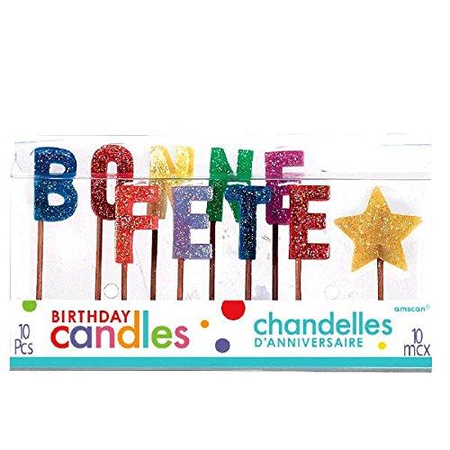 Amazon.com: Party Time moldeado Carta Bonne Fete palillo de ...
