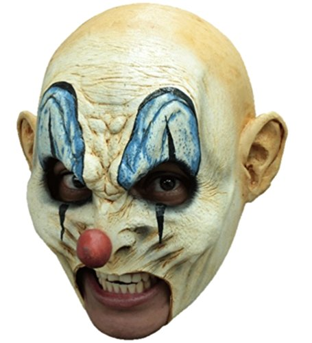 Krumpy With Teeth Latex Mask Killer Clown Open Mouth Prosthetic Adult Halloween (Prosthetic Clown Costume)