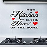 Coohole-striker The Kitchen is The Heart of Home Kitchen Beautiful Poem Removable Wall Sticker Bedroom Backdrop Art Decal DIY (A)
