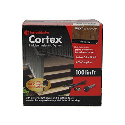 - Fastenmaster Cortex for Decks Hidden Fasteners - Trex Transcend Tiki Torch 100 Lin.ft