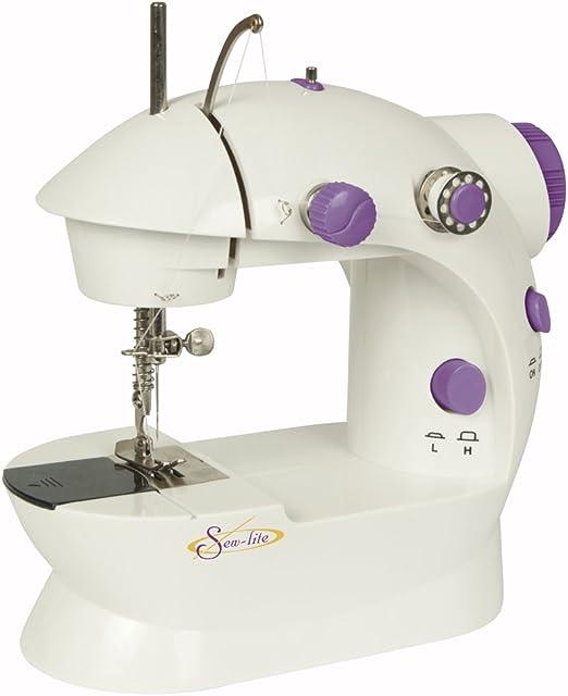 Sew Lite Mini máquina de coser portátil compacto, 2 velocidad ...