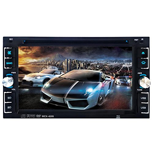 "Price comparison product image Everpert 2Din 6.2"" Car Stereo DVD CD MP3 Player HD In Dash With Camera"
