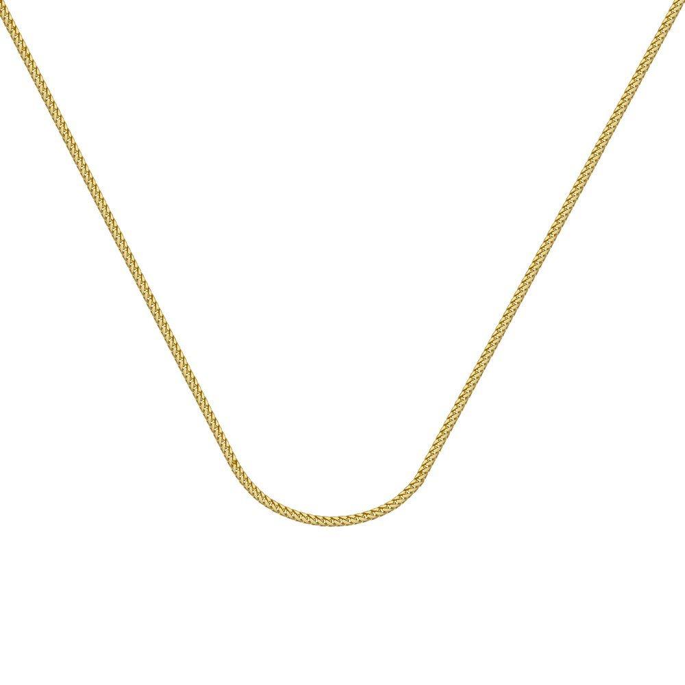 61.0 Zentimeter 14 ct Gelb Gold Franco Kette Halskette 1,55 mm Karabiner Verschluss – Länge Optionen  46 51 61