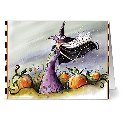 24 Note Cards - Witchy Wand - Blank Cards - Kraft Envelopes Included