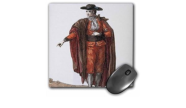 3dRose 8 x 8 x 0.25 Inches Mouse Pad, Charro traje grabado ...