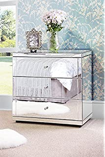 myfurniture chelsea flavia mirrored chest 3 drawers with plinth