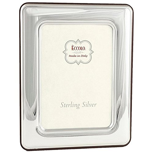 Eccolo Sterling Silver Frame, 4 by 6-Inch, Wide Rounded Corners by Eccolo