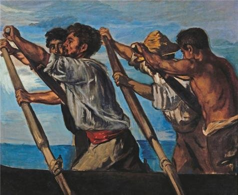 The High Quality Polyster Canvas Of Oil Painting 'Hans Von Marees-The Rowers,1873' ,size: 20x24 Inch / 51x62 Cm ,this High Definition Art Decorative Prints On Canvas Is Fit For Study Gallery Art And Home Decoration And Gifts