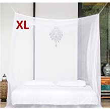 EVEN Naturals PREMIUM MOSQUITO NET for EXTRA LARGE Canopy Bed by, TWO Openings, Hanging Kit, Bag & eBook, King Size Screen Netting Curtain, Insect Protection Repellent, 100% Satisfaction Guarantee