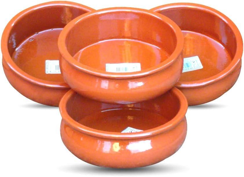 Juego de 4 Fenix Tapas plato/Cazuela Abombada - 15 cm de diámetro