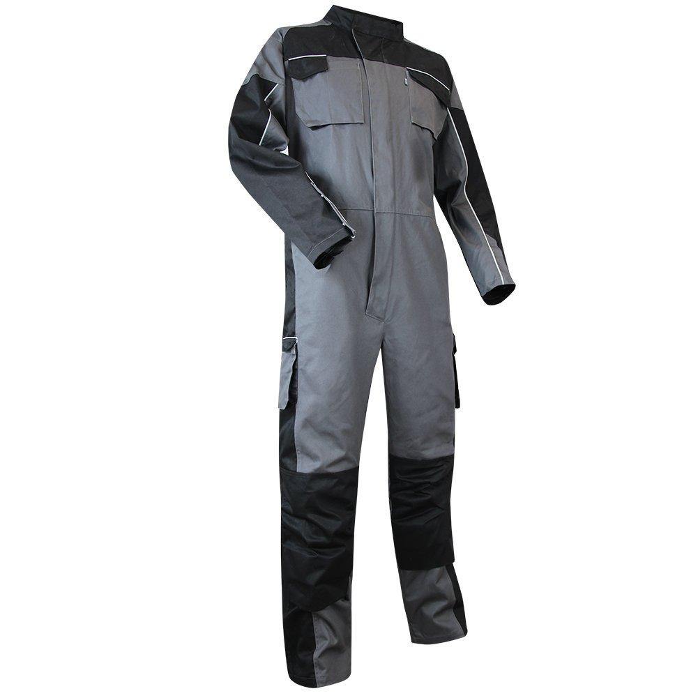 LMA 401121/pajita traje bicolor doble cierre cuello alto, para mujer, gris//negro, 4