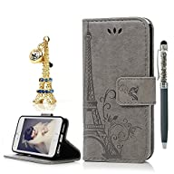 iPhone 5 Case,iPhone 5S Case,iPhone SE Case – YOKIRIN Soft Printed Tower PU Leather Cover Folio…
