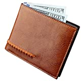 Slim RFID Blocking Bifold Leather Wallet for Men - Best Gifts for Business Anniversary