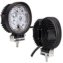 ATNEC 2 X 27W Flood Light Headlight Work Light Lamp off Road High Power ATV Jeep 4x4 Tractor Truck Light Fog Driving Bar Rree Truck SUV Car Waterproof Dustproof Shockproof