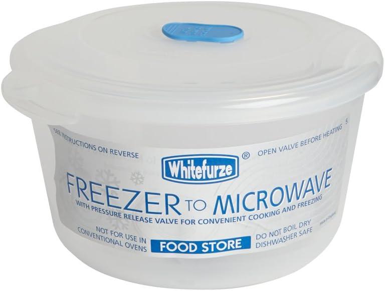 Whitefurze 1.22L Redondo Congelador para Microondas Almacenador ...