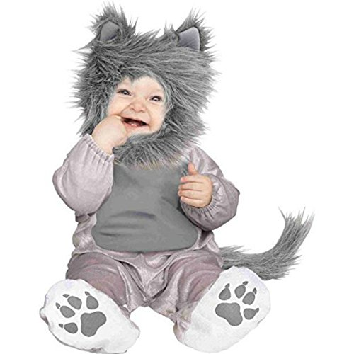 Wolf Halloween Costume Baby (Fun World Wolf Cub Toddler Costume, Multicolor, 6-12)
