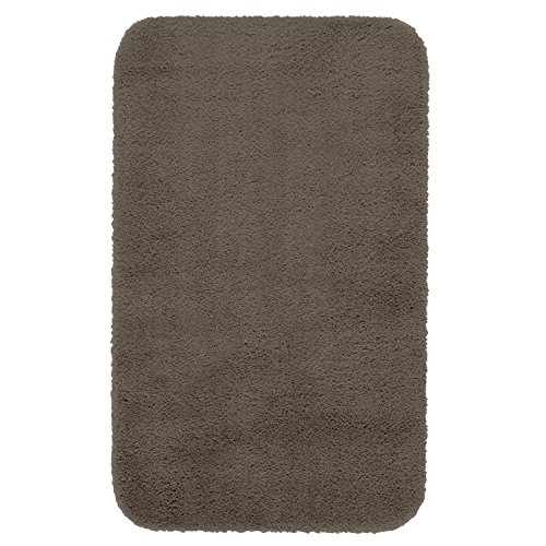 Maples Rugs Bathroom Rugs - Cloud Bath 23.5'' X 39'' Washable Non Slip Bath Mat [Made in USA] for Kitchen, Shower, and Bathroom, Mocha Latte by Maples Rugs