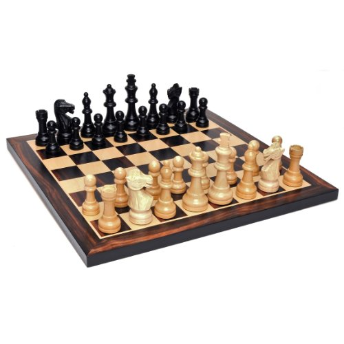 WE Games Grand Staunton Chess Set - Weighted Pieces & Black Stained Wooden Board 19