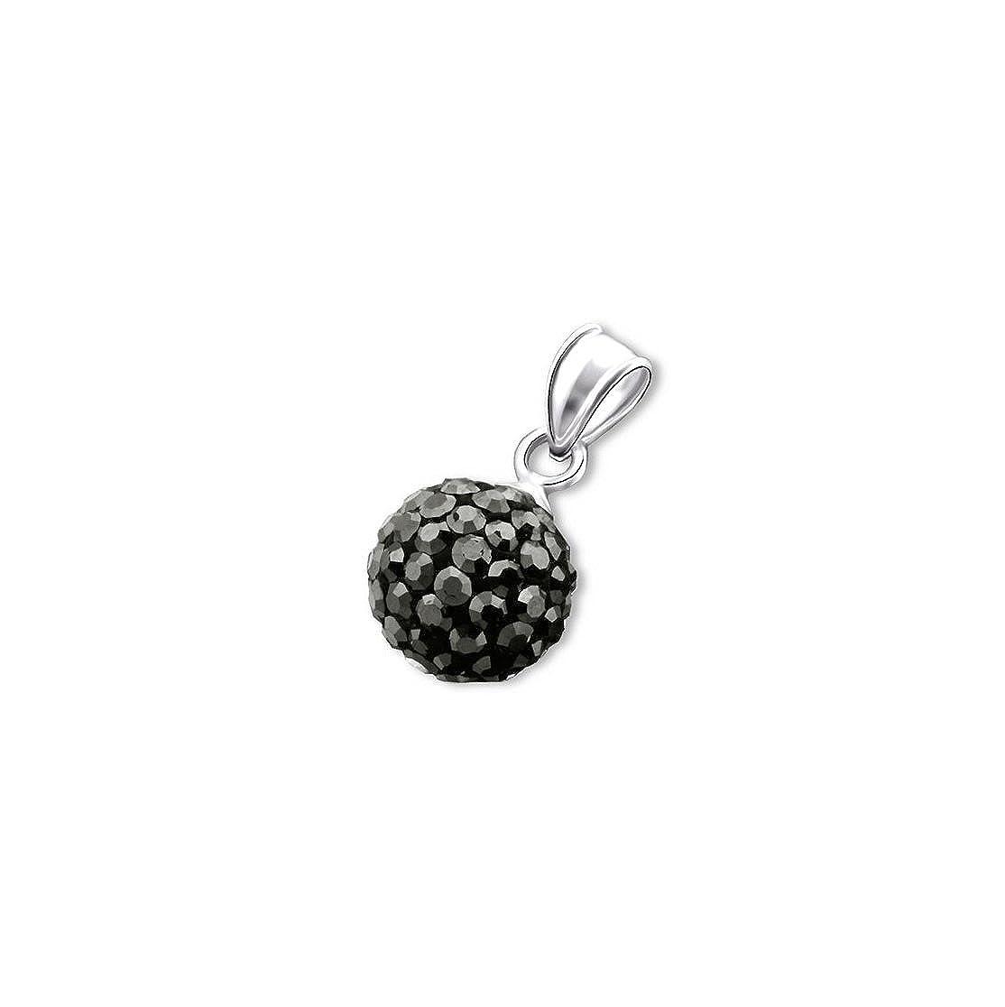 Liara Boule Cristal pendentif en Argent Sterling 925./Poli et sans Nickel
