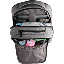 Ferlin Multi-function Baby Diaper Nappy Bags Backpack with Changing Pad, Fashion Design with Anti-Water Material for Both Mom & Dad (Grey-0726)