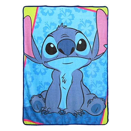 Northwest The Company Lilo & Stitch,Bad But Cute Micro Raschel Throw Blanket, 46'' x 60'', Multicolor by Northwest