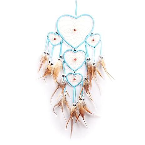 Wongfon Atrapasueños En Forma De Corazón Anillo De Cinco Carillón De