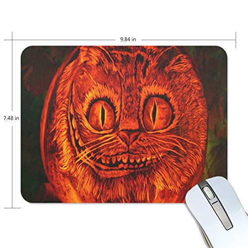 Funny Mouse Pad Personalized Halloween Abstract Cat Wallpaper Rectangle Shape for Office Computer Work (9.84 x 7.48 inch) -