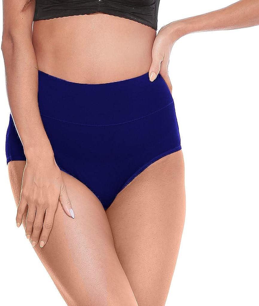 PlayMates Women Underwear Paquete de 4 Bragas de Cintura Alta para Mujer, Suaves, Transpirables, sin Costuras, Paquete múltiple - - Large: Amazon.es: Ropa y accesorios