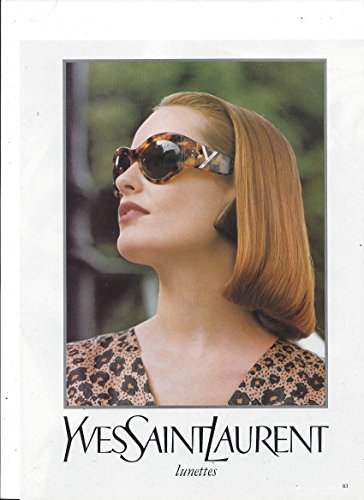 MAGAZINE AD For 1993 Tortoise Shell Yves Saint Laurent Sunglasses - Lunettes Glasses