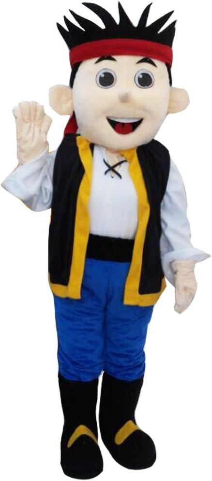 cosplaydiy Unisex Jake y los piratas de Nunca Jamás Jake mascota ...