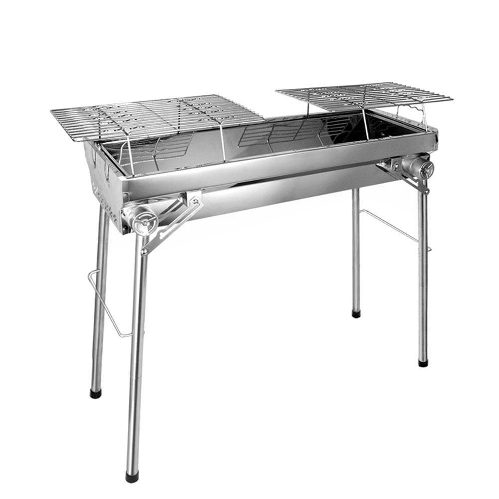 Holzkohle-Grill im Freien, klappbare Edelstahl-Barbecue-Grill rack tragbaren GRILL Ofen