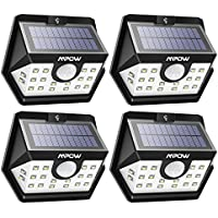4-Pack Mpow 20 LED Motion Sensor Outdoor Lights for Garage Front Door Garden Pathway