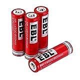 EBL 14500 800mAh Rechargeable Batteries LED Flashlight 3.7V Li ion Lithium Battery 4 Pack