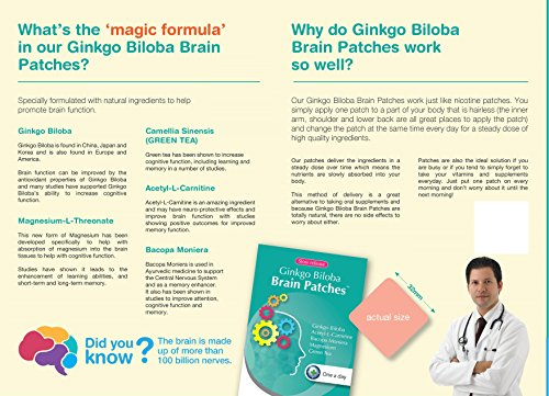 photo Wallpaper of -Ginkgo Biloba Brain Patches (30 Days Supply)   Contains (Ginkgo-
