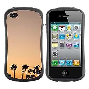 "Hypernova Slim Fit Dual Barniz Protector Caso Case Funda Para Apple iPhone 4 / iPhone 4S [Colorful Sky Sunrise Sunset Trees""]"
