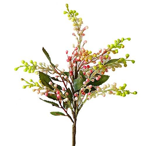 dSNAPoutof Artificial Flowers, 1Pc Berry Home Garden Arrangement Desktop Bonsai DIY Decor, Boutonniere Pink Green