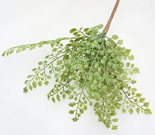 Lily-Garden-12-Artificial-Soft-Plastic-Maidenhair-Fern-Package-of-6
