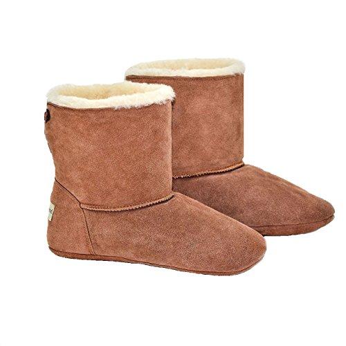 Unisex Lujo Sheepland oveja Indoor zapatillas botas