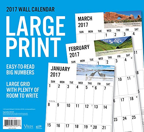 2017 Monthly Wall Calendar - Pathways of Inspiration - Large Print Photo #2