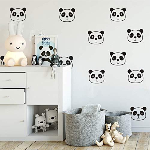 LEELIYA Tatuajes De Pared Nursery Cute Panda Tatuajes De Cara De ...