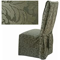 Damask Olive Dining Chair Covers Set of Four 584