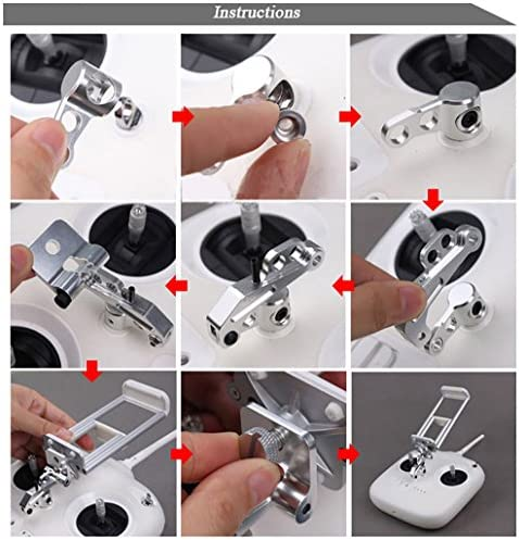 "MoreToys 3.5""-10"" Remote Controller Stretchable Extended Clamp Phone Tablet Holder Bracket for DJI Phantom 3"