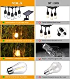Foxlux Solar String Lights - 48 ft LED Outdoor